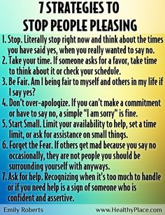 Strategies to stop people pleasing: Is people-pleasing an issue for you? Here are 7 strategies to stop people-pleasing from our self-esteem blogger, Emily Roberts.