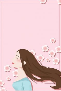 Grafic Art, Flower Graphic Design, Dark Blue Background, Shiny Hair, Hair Art, Blue Backgrounds, Hairdresser, Pop Art, Illustration Art
