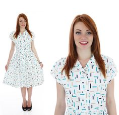 80s Party Dress 50s Inspired Vintage Atomic by neonthreadsdesigns, $42.00