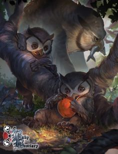 Andreas Walters is raising funds for Baby Bestiary Volume 2 & Vol. 1 Reprint on Kickstarter! Discover the Adorable in the second volume (and first reprint) of the most adorable monster lorebook ever! Dungeons And Dragons, Fantasy Kunst, Fantasy Rpg, Fantasy Beasts, Dnd Monsters, Creature Concept, Mythological Creatures, Monster Art, Baby Owls