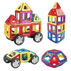 INTEY Magnetic Building Blocks Magnetic Building Block Set Rainbow Magnetic Blocks for Kids Toddlers Toys with Guide Booklet for Edutainment as Holiday Gift Toddler Gifts, Toddler Toys, Kids Toys, Magnetic Building Blocks, Kids Blocks, Thing 1, Bag Storage, Holiday Gifts, Jigsaw Puzzles