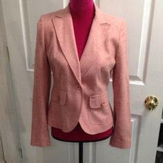 Ann Taylor light wool blend blazer Lightweight perfect for spring light reddish pinkish wool blend blazer in excellent condition Ann Taylor Jackets & Coats Blazers