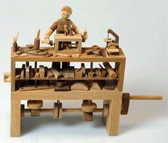 Brinquedos Autômatos - Automata toys - Bastelbögen Mechanischen - Juguetes autómatas - Karakuri: Alguns mecanismos - Cames