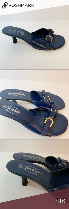 719ba139ef20e9 Zoey Beth Bright Blue Sandals size 8 low heel Zoey Beth Bright Blue Sandals  size 8