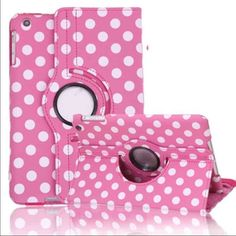 Polka-dot leather 360 rotate smart stand case Polka-dot leather 360 rotate smart stand case Listing is colorful Polka-dot 360 rotating smart leather protective case for iPad mini 1/2/3/4 with sleep/wake features.  Brand new case with perfect shock defender front and back cover  Order will ship within 24 hours  Thanks for looking. Accessories