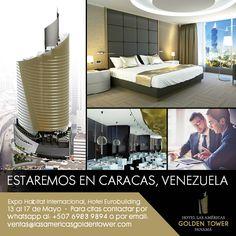¡Caracas, Venezuela!  Asesórese con nosotros y conozca todo sobre Hotel Las Américas Golden Tower Panamá y los beneficios que obtiene al invertir. Para asistir gratis a la feria, regístrese en este link: http://www.expohabitatinternacional.com/entrada-gratuita-2/
