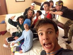 Cameron Dallas, Nash Grier, Hayes Grier, Matthew Espinosa, Carter Reynolds, Shawn Mendes, Taylor Caniff, Jack Johnson, Jack Gilinsky, Aaron Carpenter, JC Caylen