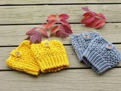 Boot cuffs are a very popular accessory among college kids and they sell like hot cakes at craft fairs. ...
