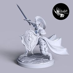 3D Printable Ren Zorener The Brave by Ricardo Coronel Print Pictures, Brave, Knight, Two By Two, Things To Come, Printables, Models, 3d, Games
