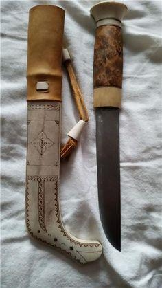 Halvhorns Samekniv Signerad med N på Tradera.com - Knivar från
