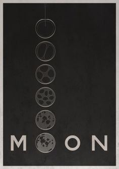 Poster idea for Moon by Chris Mesh. Minimal Movie Posters, Minimal Poster, Graphic Design Typography, Graphic Design Illustration, Alternative Movie Posters, Illustrations Posters, Minimalism, Films, Poster