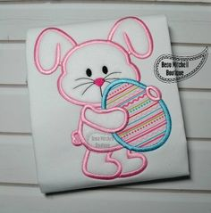 Easter bunny egg applique - Beau Mitchell Boutique