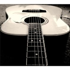 Acoustic Guitar wallpaper - Guitar Wallpapers ❤ liked on Polyvore