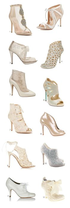 12 of the best bridal booties around...