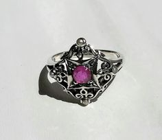 Genuine Natural .25CT Ruby 925 Solid Sterling by GlowingEmpire, $124.00