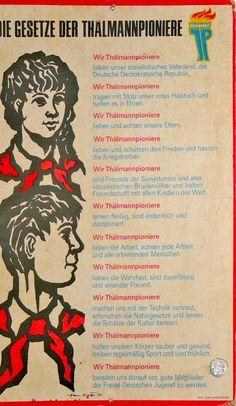 DDR Gesetze der Thälmannpioniere