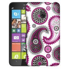 Nokia Lumia 1320 Paisley Pink Black on White Slim Case