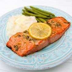 The marinade for this salmon is amazingly good. This is my go-to baked salmon recipe. Easy, excellent dish.