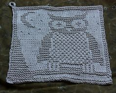 Baby Knitting Patterns Dishcloth Owl discloth FREE pattern on Ravelry Knitting Squares, Dishcloth Knitting Patterns, Crochet Dishcloths, Knit Or Crochet, Loom Knitting, Knitting Stitches, Free Knitting, Crochet Patterns, Knitted Owl