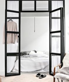 1140 Likes 35 Comments - Fashion Condo Living, Home And Living, Living Room Decor, Home Interior, Interior Architecture, Interior Design, Bedroom Doors, Home Bedroom, Scandi Home