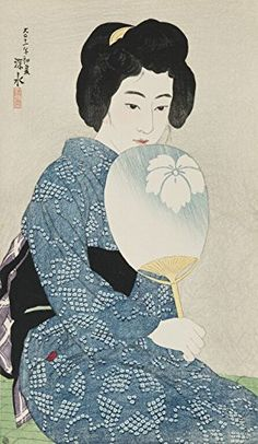 "Japanese Art Print ""Cotton Kimono (Yukata)"" by Ito Shinsui. Shin Hanga and Art Reproductions http://www.amazon.com/dp/B00WW0TFM0/ref=cm_sw_r_pi_dp_VKyswb122Z9PA"