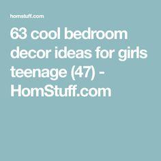 63 cool bedroom decor ideas for girls teenage (47) - HomStuff.com