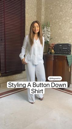 Stylish Work Outfits, Stylish Dress Designs, Business Casual Outfits, Casual Winter Outfits, Diy Clothes Life Hacks, Clothing Hacks, Denim Outfit For Women, Diy Fashion Hacks, Shirt Refashion