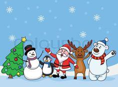 Stock vektor af 'julen, jul, snemand'