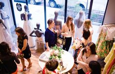 Guests at The Everygirl Event at BHLDN Chicago