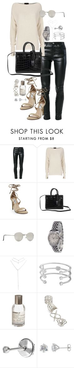 """""""Untitled #1141"""" by marissa-91 ❤ liked on Polyvore featuring Yves Saint Laurent, Exclusive for Intermix, Steve Madden, Forever 21, Rolex, Wet Seal, Dyrberg/Kern, Le Labo, Topshop and VANRYCKE"""