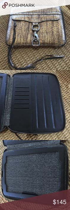 Rebecca Minkoff Embossed iPad Case NWOT. This beauty has just been hanging out in my closet and it's time we part ways! Fits regular sized iPad and has no flaws. In new condition! BEAUTIFUL and perfect for any Rebecca lover! Rebecca Minkoff Accessories Tablet Cases