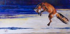 Mouser Red Fox | Carrie Wild Fine Art  Contemporary Wildlife Painting