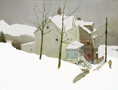 "Bill Vrscak / Winter of '07     Watercolor        17"" x 23"""