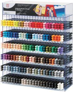 Zig Cartoonist Kurecolor Fine and Brush Markers Display Set