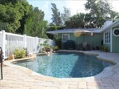 siesta key 120/night Beautiful heated saltwater pool and patio area is shared with attached 2 bedroom