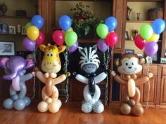 Now, if only I can find those head foil balloons Safari Party, Safari Theme Birthday, Jungle Theme Parties, Safari Birthday Party, Animal Birthday, Jungle Safari, Party Animals, Animal Party, Jungle Animals
