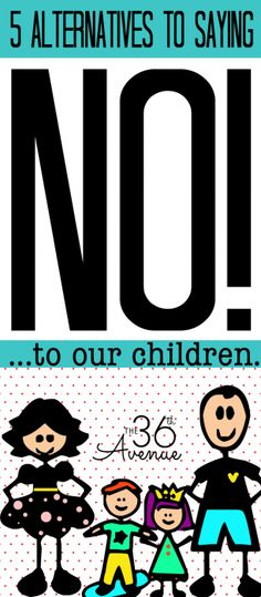 Great tips for saying no to your kids!