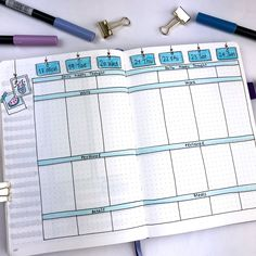 Bullet Journal Ideas: 3 Weekly Spread Layouts for June 2018