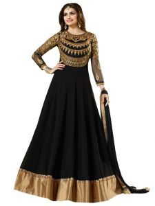 Buy Stylish Fashion Embroidered Black Anarkali Suit - SFVINAYB-1004 at lowest price