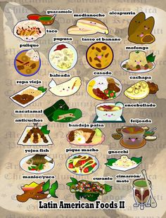 Project: Food From Around the World Region/Country/Culture: Latin America (Regional Version) Notes: Here is the second half! I tried to pick more regional or country specific food, as there were ju...