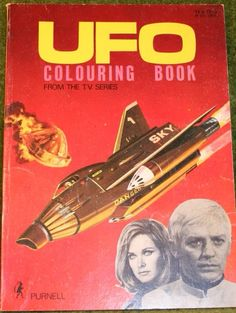UFO Colouring Book. Ufo Tv Series, Space Hero, Sci Fi Models, Coloring Books, Colouring, Major Tom, Retro Toys, Advertising Poster, Movie Tv