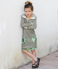 Take a look at the Olive Floral Pocket Hoodie Dress - Toddler & Girls on #zulily today!