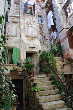 The house on a blind alley - Rovinj, Croatia