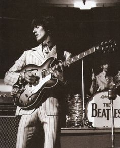 thateventuality:  Scan - George and Ringo on stage, 13 August 1966, Olympia Stadium, Detroit, MI Photo: Bob Bonis