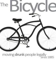 Bicycle moving drunk people legally