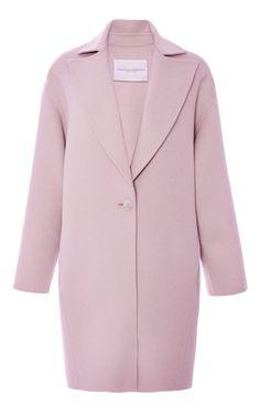 Single Button Wool Coat by Carolina Herrera - Moda Operandi