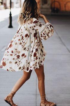 flowy bohemian dress