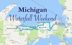 Craving a chance to admire the best waterfalls in Michigan? Load up the car and get ready for one of the most scenic weekend adventures you've ever had! Michigan Vacations, Michigan Travel, Lake Michigan, Wisconsin, Texas Travel, Northern Michigan, Vacation Destinations, Dream Vacations, Trekking