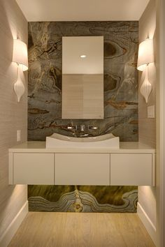 Onyx feature wall.