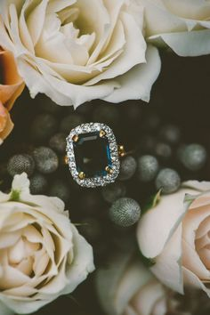 vintage sapphire ring | April and Paul: http://www.aprilandpaul.com | Lovegood Wedding & Event Rentals: http://www.lovegoodweddings.com